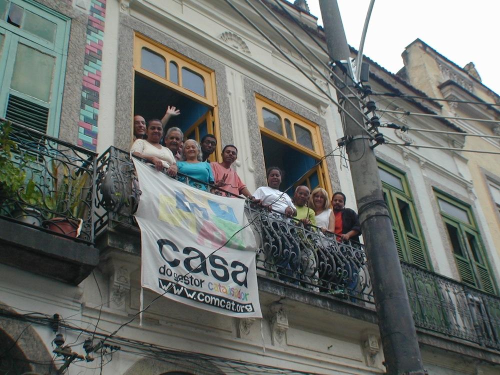 Women's group taking a break