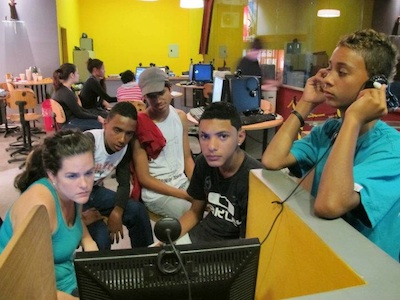 Youth Journalists in training via partnership with Adobe Youth Voices